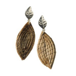 Art da Terra Designer Hand-Crafted Gold Leaf Earrings