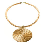 Art da Terra Designer Hand-Crafted Circle Pendant Necklace