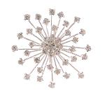 Genuine Clear Rhinestone Snowflake Silver Tone CHRISTMAS Brooch