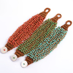 Mixed Bohemian Boho Woven Seed Bead Bracelets & Stainless Steel