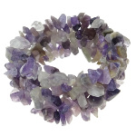 Genuine Amethyst Purple Gemstone Chip Stretch Bracelet