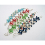 Mixed Butterfly & Flower Blossom Faceted Crystal Bracelet