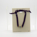 Vermeil Gold on Sterling Silver Adjustable Cord Bracelet ~Purple