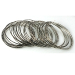 Mixed Antiqued Silver Tone Metal Bangle Bracelets