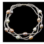 Delicate Genuine FW Pearl & Crystal Bracelet ~ Shades Magnetic