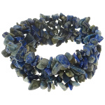 Genuine Lapis Lazuli Blue Gemstone Chip Stretch Bracelet