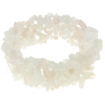Genuine Pink Quartz Small Gemstone Chip Stretch Bracelet