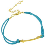 Southwest Style Gold Arrow & Turquoise Suede Bracelet