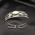Artist-Crafted Sterling Silver & Labradorite Adjustable Bracelet