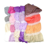Silk & Nylon Stretchy Color Block Scarf