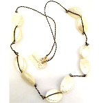 Designer Elly Preston Strung Abalone Shell Nautical Necklace