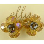 Designer Elly Preston Crystal Retro Flower Blossom Earrings