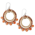 Designer Elly Preston Carded Boho Bead Lola Earrings ~ Tangerine