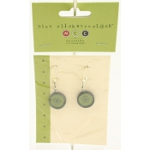 Closeout Linda Schneewind Retro Style Silver Plated Earrings 1