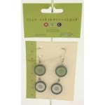 Closeout Linda Schneewind Retro Style Silver Plated Earrings 2