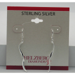 Liquidation Sterling Silver Twist Dangle Earrings