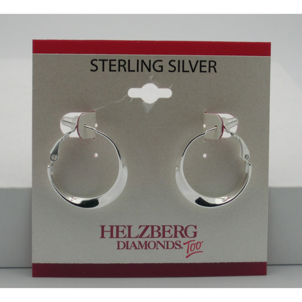 Liquidation Sterling Silver Overturned Hoop Earrings