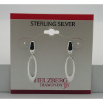 Liquidation Sterling Silver Open Oval Dangle Earrings