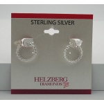 Liquidation Sterling Silver Rope Overlay Hoop Earrings