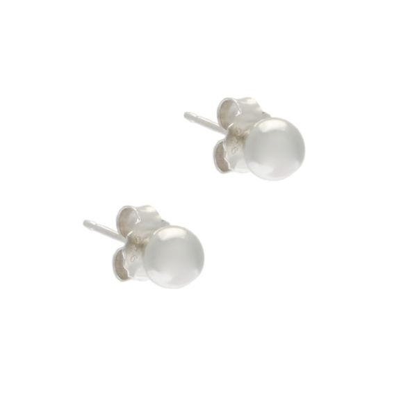 4mm Sterling Silver Ball Stud Earrings