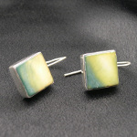 Artist-Crafted Sterling Silver & Lustrous Shell Earrings