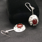 Artist-Crafted Sterling Silver & Filigree Carnelian Earrings