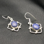 Artist-Crafted Sterling Silver & Lapis Lazuli Gemstone Earrings