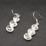 Artist-Crafted Sterling Silver & Faceted Blue Topaz Earrings
