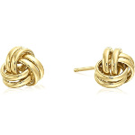 Carded 14K Gold Plate Celtic Knot Stud Earrings