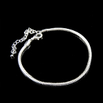 "8"" Adjustable European Bead Silverplated Bracelet"