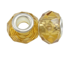Faceted Crystal European Bead ~ Citrine