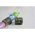 Tibetan Silver Banded High-Relief Swirl Spacer Beads