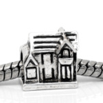 Tibetan Silver English Cottage European Spacer Bead
