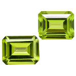 Peridot - 7x5mm Emerald Cut Loose Gemstone