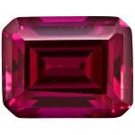 Ruby - 7x5mm Emerald Cut Loose Lab-Created Gemstone