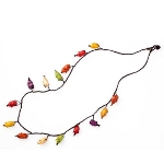 Maria Oiticica Designer Multi Colored Seed Pod Necklace