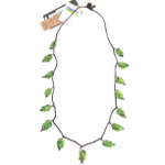 Maria Oiticica Designer Green Colored Seed Pod Necklace