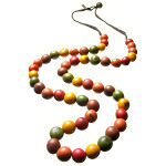 Maria Oiticica Designer Braided 50 Dyed Seed Bead Necklace