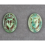 Vintage Czech Glass Egyptian Pharaoh Cameo