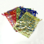 Mixed Organza Draw String Jewelry Bags ~ Large Decorated