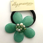 Designer Elly Preston Sherbert Collection Floral Hairband ~ Lime