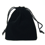 Black Velvet Draw String Jewelry Bags ~ Small