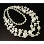 Milk White Quartz & Faceted Crystal Bead Necklace