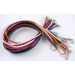 Mixed Adjustable Silk Necklaces 3mm