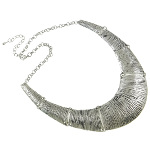 Antiqued Boho Bohemian Chic Statement Necklace ~ Silver