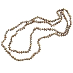 Freshwater Potato Pearl Bead Necklace Iridescent Copper