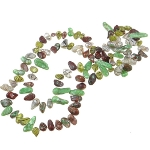"48"" Baroque Freshwater Pearl Copper Green White Yellow Necklace"