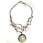Designer Elly Preston FW Pearl & Milk Quartz Sidney Necklace