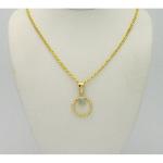 New Old Stock 1970&#39s Gold Tone Genuine Opal Pendant Necklace