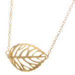 Silhouette Leaf Necklace ~ 14K Gold Vermeil on Sterling Silver